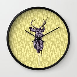 Deer Head IV Wall Clock