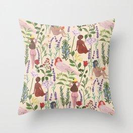 Aromatherapy Garden Throw Pillow
