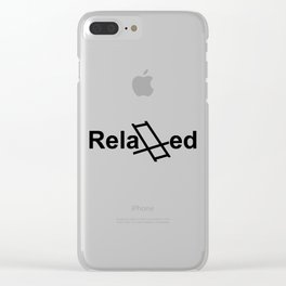 Relaxed live Clear iPhone Case