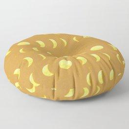 Mustard Moon Phase Floor Pillow