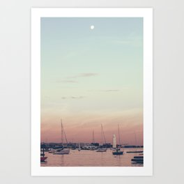 Sailing on the Boston Harbor Art Print