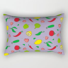 Colorful pattern with fruits and vegetables Rectangular Pillow