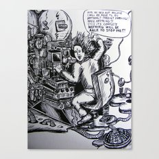 Art machine Canvas Print