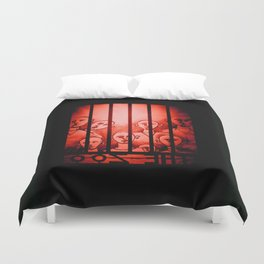 The Zoo [Red] Duvet Cover