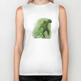 Fight! (in Green) Biker Tank