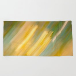 Ancient Gold and Turquoise Texture (variation) Beach Towel