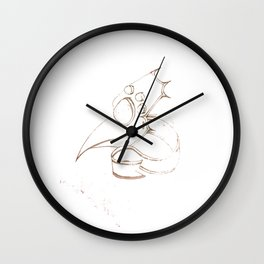 The Plague Wall Clock