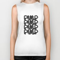 pulp Biker Tanks featuring Pulp  by Kate Lowe