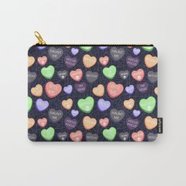 Spooky Conversation Hearts Carry-All Pouch