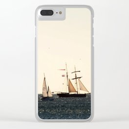Sailboats in a windy day Clear iPhone Case