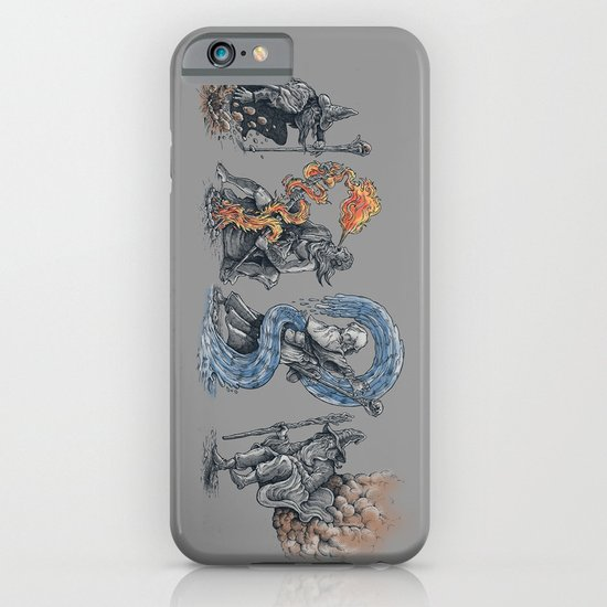 earth - fire - water - (bad) air iPhone & iPod Case