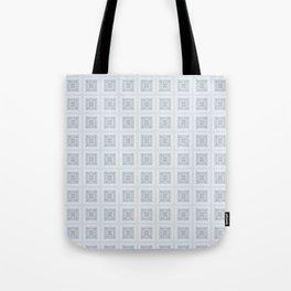 Modern Life Pattern Mauve Blue Tote Bag
