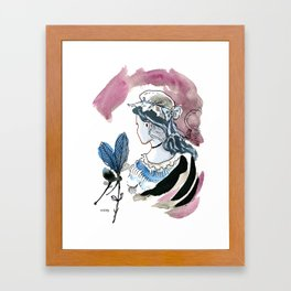 Beautiful Woman / Ugly Witch Framed Art Print