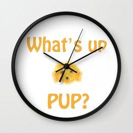 pup sketch Wall Clock
