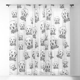 SPECIAL GIFTS for the Goldendoodle Dog lover from Monofaces Sheer Curtain