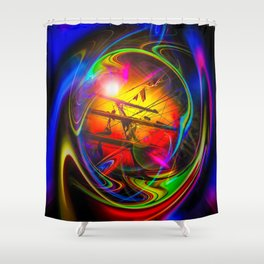 Saling Romance 2 Shower Curtain