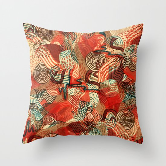 Melting Mix Throw Pillow