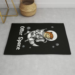 Otter Space Funny Astronaut Rug