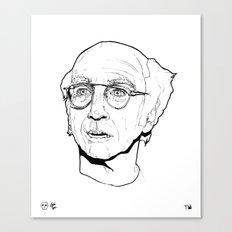 Curb your Larry David Canvas Print