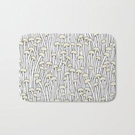 Enokitake Mushrooms (pattern) Bath Mat
