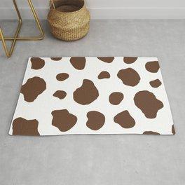 Brown Cow Print Background Rug