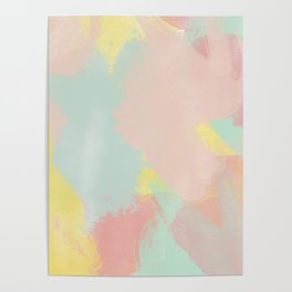 Abstract Pastel Acrylic Poster