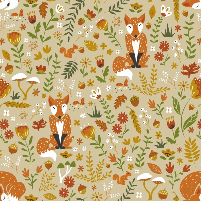 Foxes with Fall Foliage Leggings