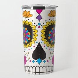 Sugar skull dia de los muertos Travel Mug