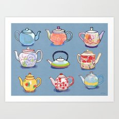 Teapots! Art Print