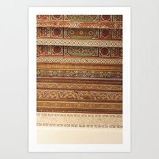 Moroccan Palace Patterns Art Print
