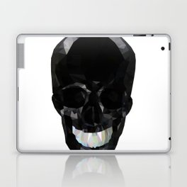 Skull Black Low Poly Laptop & iPad Skin