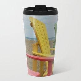 Summer Beach Chairs Travel Mug