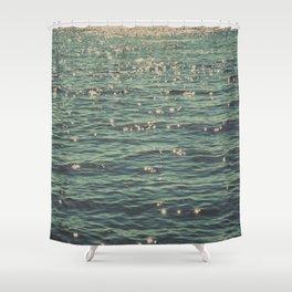 Sea Glitter (vintage) Shower Curtain