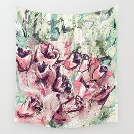 Abstract flowers 1 Wall Tapestry