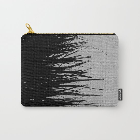 Concrete Fringe Black on Side Carry-All Pouch