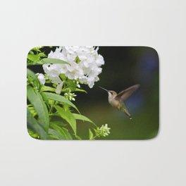 Hummingbird and Flowers Bath Mat