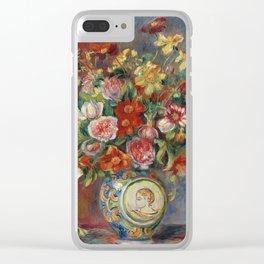 """Pierre-Auguste Renoir """"Vase de fleurs"""" Clear iPhone Case"""