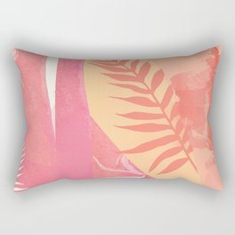 Pink Marble Palm Rectangular Pillow