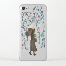 Rain Dance Clear iPhone Case