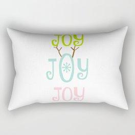 Holiday JOY antlers - coastal Christmas Rectangular Pillow