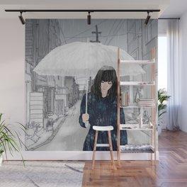 In The Rain Wall Mural