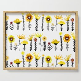 Sunny Days Ahead / floral art Serving Tray