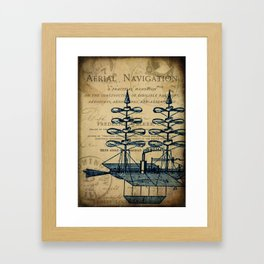 Vintage Airship Framed Art Print