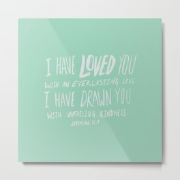 Everlasting Love x Mint Metal Print