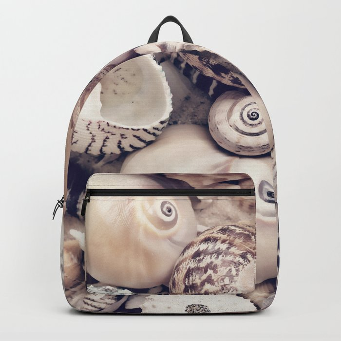 Vintage  Sea Shell Collection Coastal Style Backpack