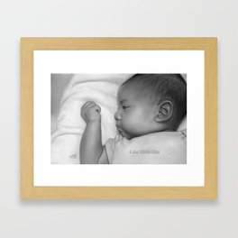 I Am Little Fist Framed Art Print