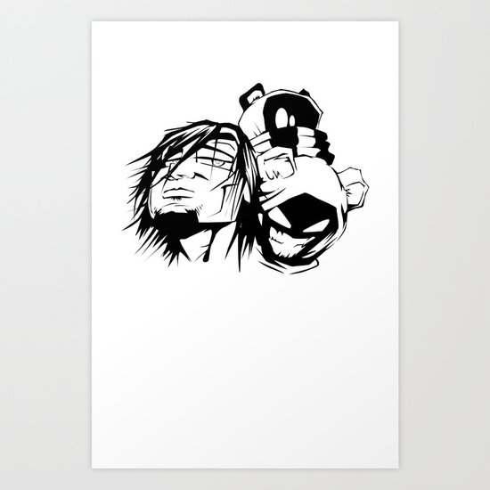 Content with KAOS characters Art Print