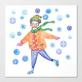 Let's go skating Canvas Print