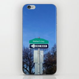 Mother's Day funny design with signpost iPhone Skin