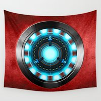 iron man Wall Tapestries featuring Iron Man Iron Man by ThreeBoys